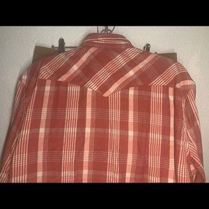 Men's  vintage Lucky Brand plaid button down shir